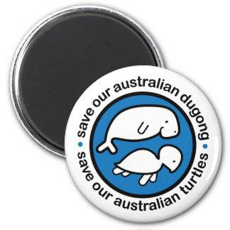 Ahorre nuestro dugong y tortugas imán