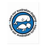 Ahorre nuestro dugong y tortugas postal