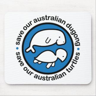 Ahorre nuestro dugong y tortugas alfombrilla de ratones