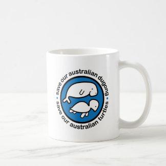 Ahorre nuestro dugong y tortugas taza de café