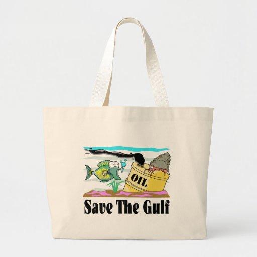 ahorre nuestro golfo bolsa tela grande