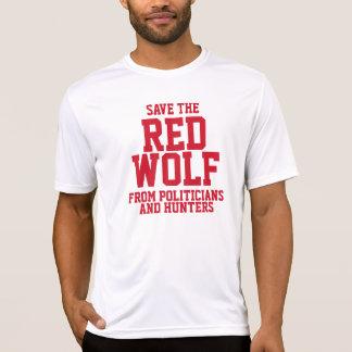 Ahorre nuestro lobo rojo en peligro playera