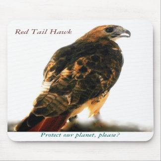 Ahorre nuestro mousepad rojo del halcón de la cola tapete de raton