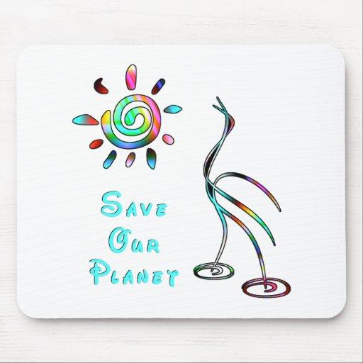 Ahorre nuestro planeta alfombrilla de ratones