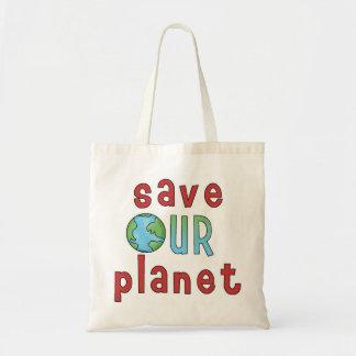 Ahorre nuestro planeta Bag* *Accent Bolsa Tela Barata