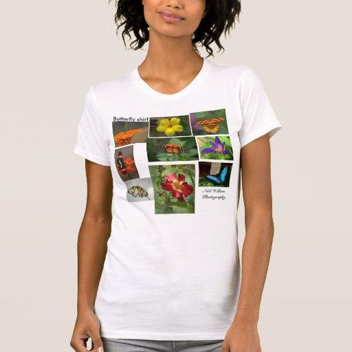 Ahorre nuestro planeta - camisa de la mariposa