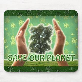 Ahorre nuestro planeta Mousepad