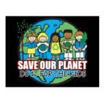 Ahorre nuestro planeta postal