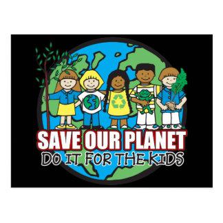 Ahorre nuestro planeta postales