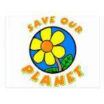Ahorre nuestro planeta tarjeta postal