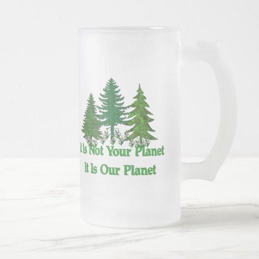 Ahorre nuestro planeta tazas