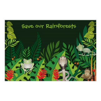 Ahorre nuestro poster de las selvas tropicales