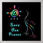 Ahorre nuestro poster del planeta