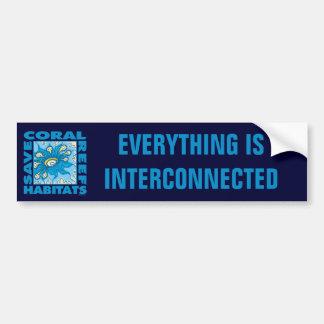 Ahorre nuestros arrecifes de coral pegatina para auto
