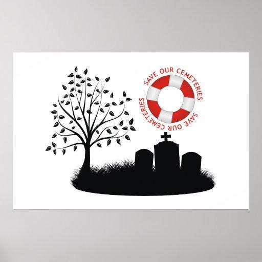 Ahorre nuestros cementerios poster