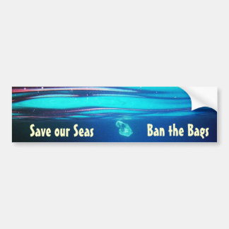 Ahorre nuestros mares - prohíba a la pegatina para pegatina para auto
