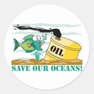 ¡Ahorre nuestros océanos Etiqueta