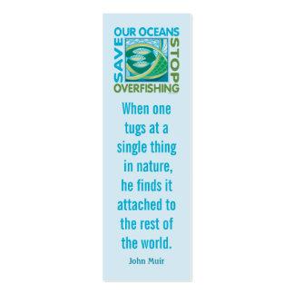 Ahorre nuestros océanos - pare la pesca excesiva tarjetas de visita mini