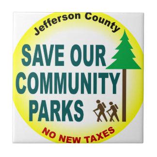 Ahorre nuestros parques de comunidad azulejo cuadrado pequeño