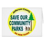 Ahorre nuestros parques de comunidad felicitacion