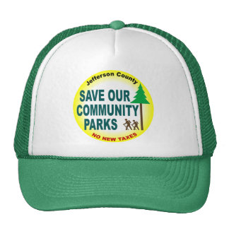 Ahorre nuestros parques de comunidad gorros bordados
