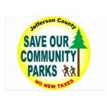 Ahorre nuestros parques de comunidad postal
