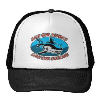 Ahorre nuestros tiburones gorras