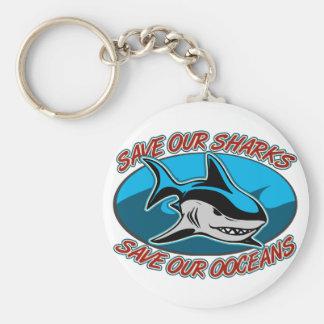 Ahorre nuestros tiburones llaveros
