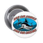 Ahorre nuestros tiburones pin