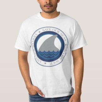 ahorre nuestros tiburones playera