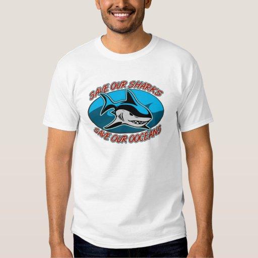 Ahorre nuestros tiburones remeras