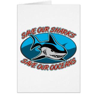 Ahorre nuestros tiburones tarjeton
