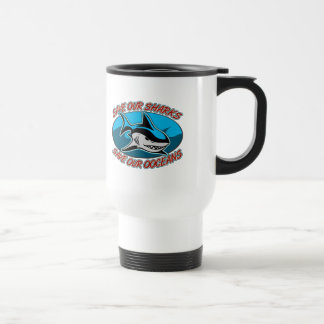 Ahorre nuestros tiburones taza térmica