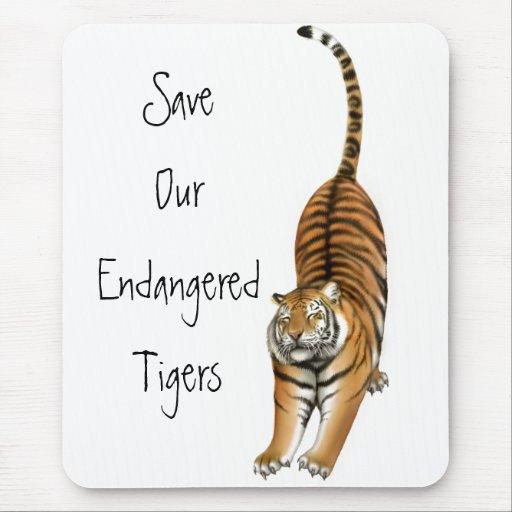 Ahorre nuestros tigres en peligro Mousepad Tapetes De Ratones