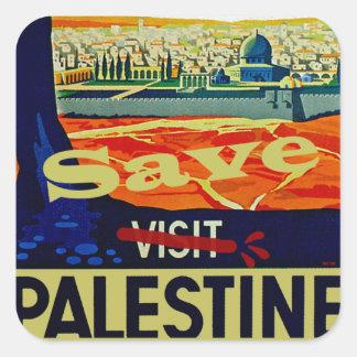 Ahorre Palestina Pegatina Cuadrada