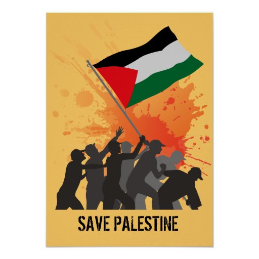 Ahorre Palestina Póster
