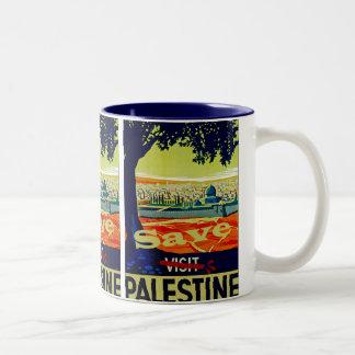 Ahorre Palestina Taza De Café De Dos Colores