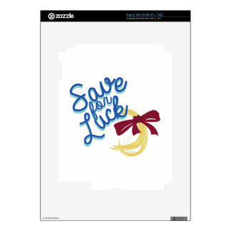 Ahorre para la suerte calcomanías para iPad 2