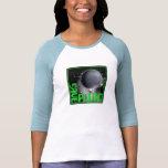 Ahorre Plutón (el verde retro) Camisetas