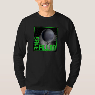 Ahorre Plutón (el verde retro) Playera