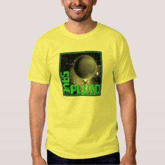 Ahorre Plutón (el verde retro) Playeras