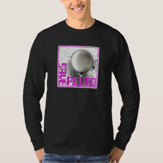 Ahorre Plutón (la púrpura retra) Playeras