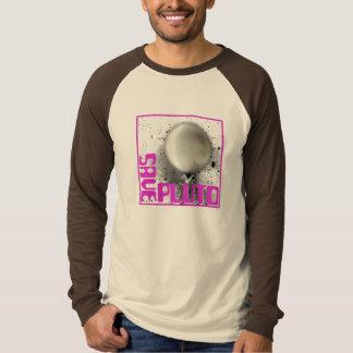 Ahorre Plutón (la púrpura retra) Remeras