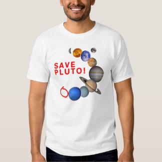 Ahorre Plutón (la Sistema Solar) Playera