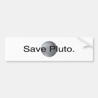 Ahorre Plutón Pegatina Para Auto