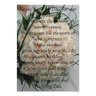 Ahorre por favor la invitación de boda de la fecha
