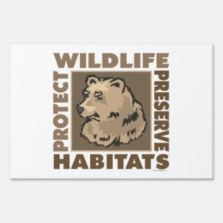 Ahorre, proteja los osos carteles