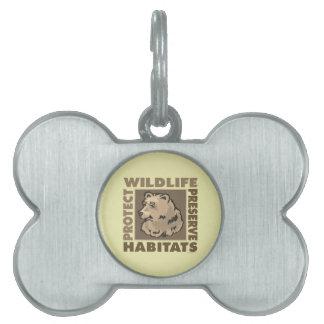Ahorre, proteja los osos placas de nombre de mascota