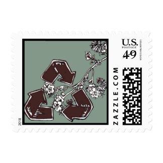 Ahorre, reutilice, recicle el sello