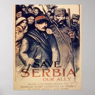 """""""Ahorre Serbia nuestro aliado"""", el poster, 1915 (e"""
